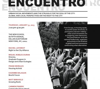 Livestream from the Urban Encuentro at the New School