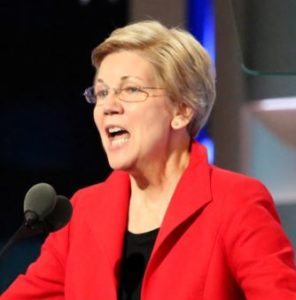Elizabeth_Warren_2016_DNC By A. Shaker/VOA [Public domain], via Wikimedia Commons from Wikimedia Commons